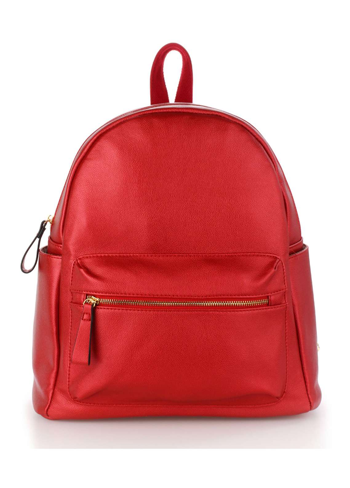 Leesun London Soft Faux Leather Backpack Bags  for Unisex  Burgundy with Plain Texture