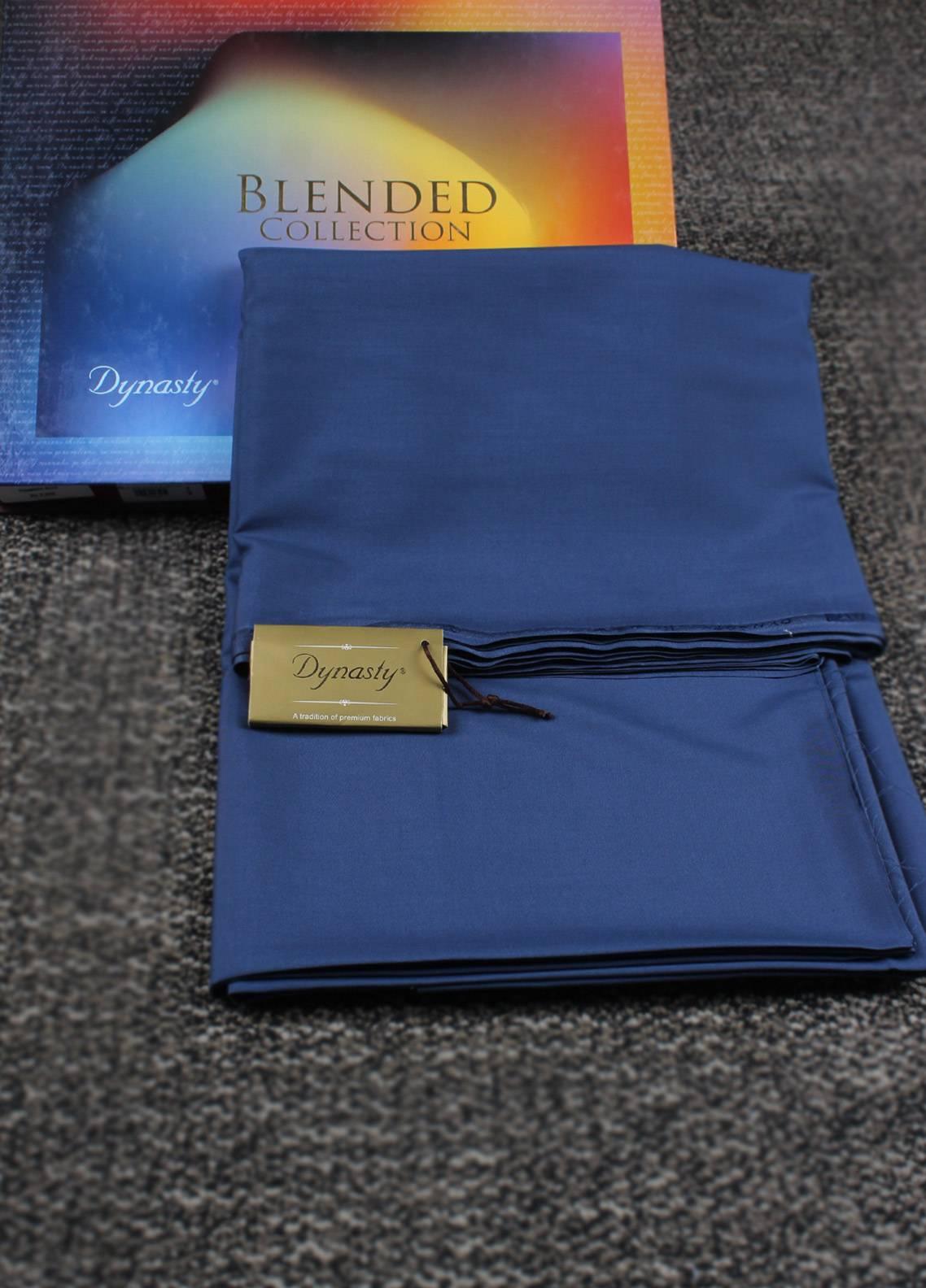 Dynasty Hawk  Wash N Wear Unstitched Shalwar Kameez Captin Blue - Summer Collection