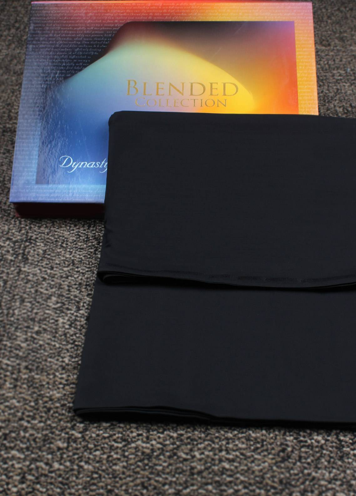Dynasty Ticket Wash N Wear Unstitched Shalwar Kameez Black - Summer Collection