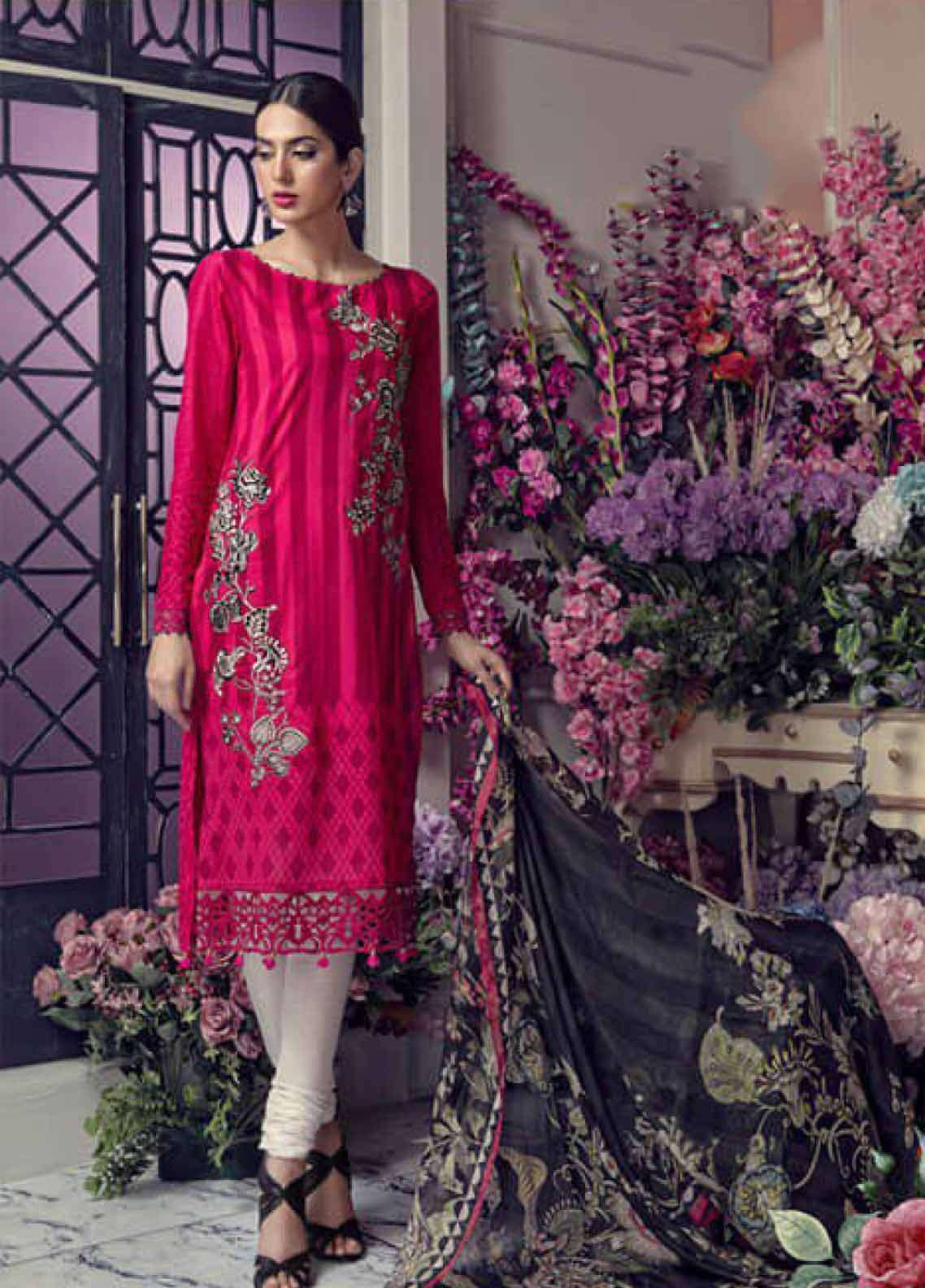 Aayra Embroidered Lawn Unstitched 3 Piece Suit AY19L 03A - Spring / Summer Collection