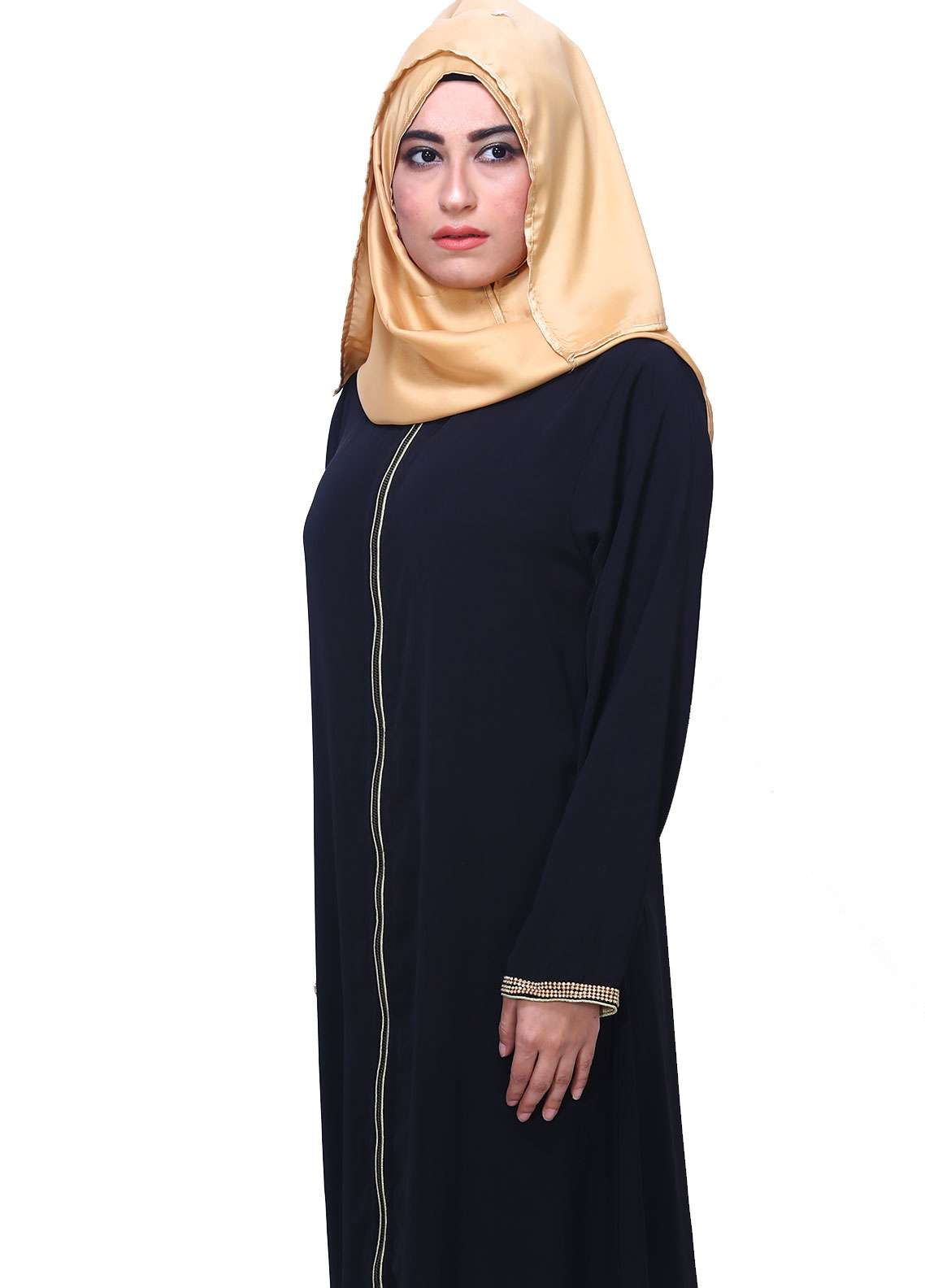 Black Georgette Formal Style Abaya for Women - ABY18 010