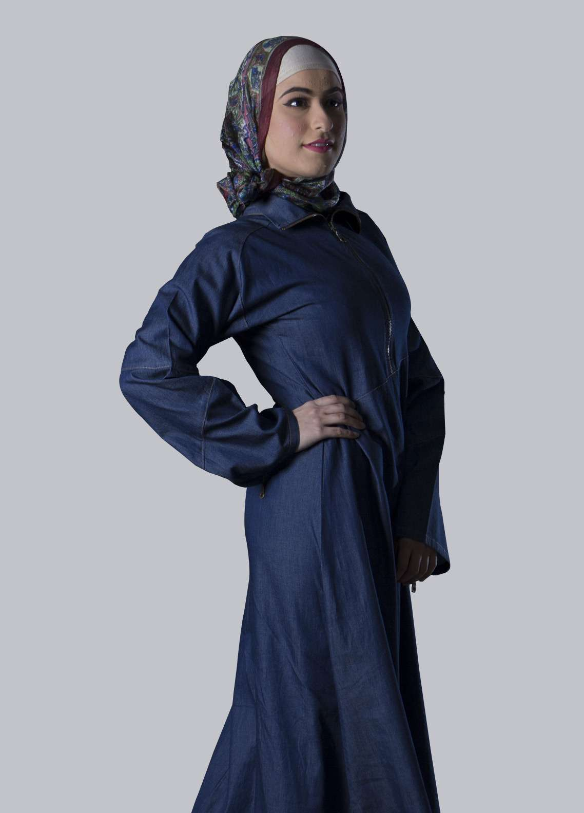 Blue Georgette Formal Style Abaya for Ladies - ABY18 006