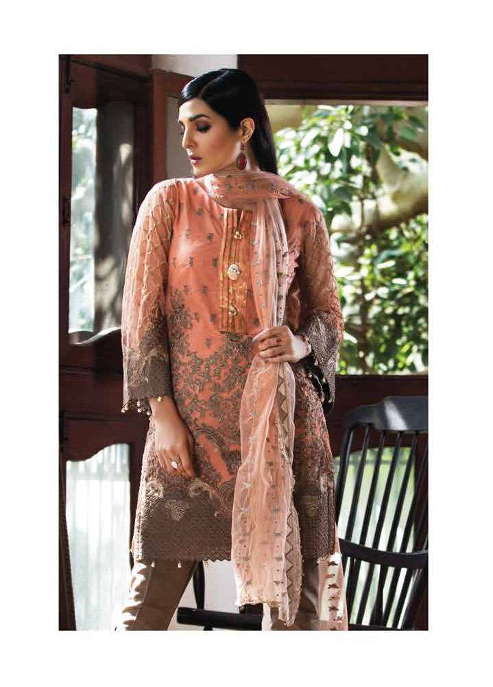Arisha Chowdary BY ZS Embroidered Silk Unstitched 2 Piece Suit AC17S 02