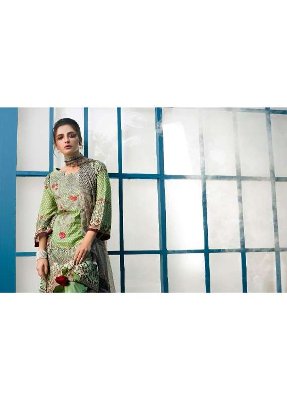 Arisha Chowdary BY ZS Embroidered Lawn Unstitched 3 Piece Suit AC18L 01 - Spring / Summer Collection
