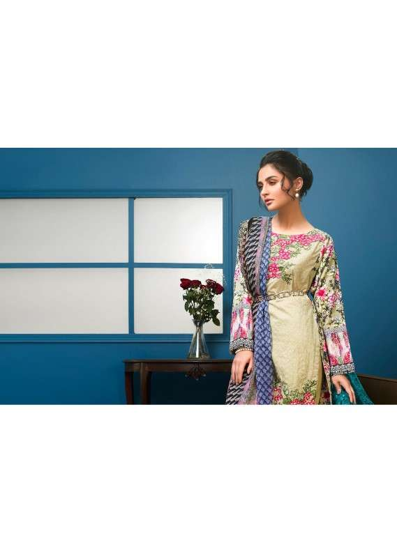 Arisha Chowdary BY ZS Embroidered Lawn Unstitched 3 Piece Suit AC18L 03 - Spring / Summer Collection