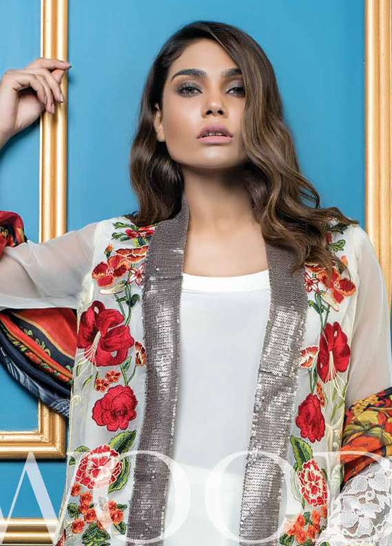 Al Dawood Textile Embroidered Raw Silk Unstitched 3 Piece Suit AD18L 05 - Summer Collection