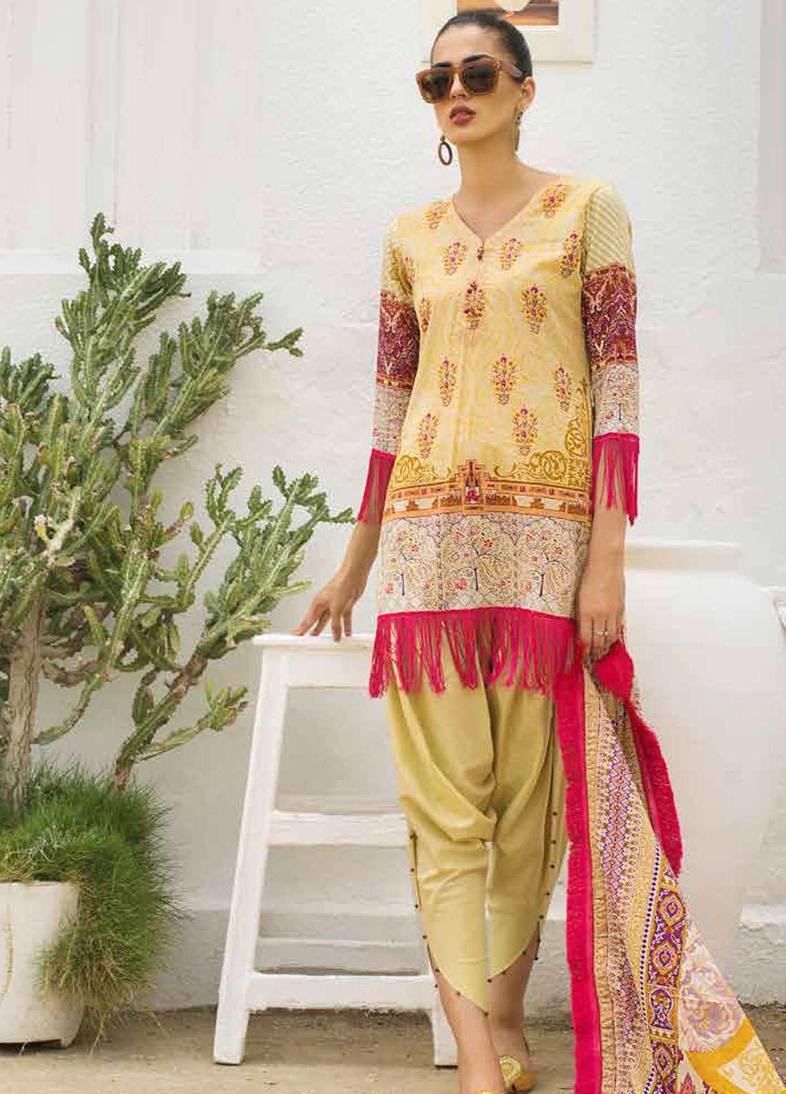 Al Zohaib Printed Lawn Unstitched 3 Piece Suit AZC19L 6A - Spring / Summer Collection