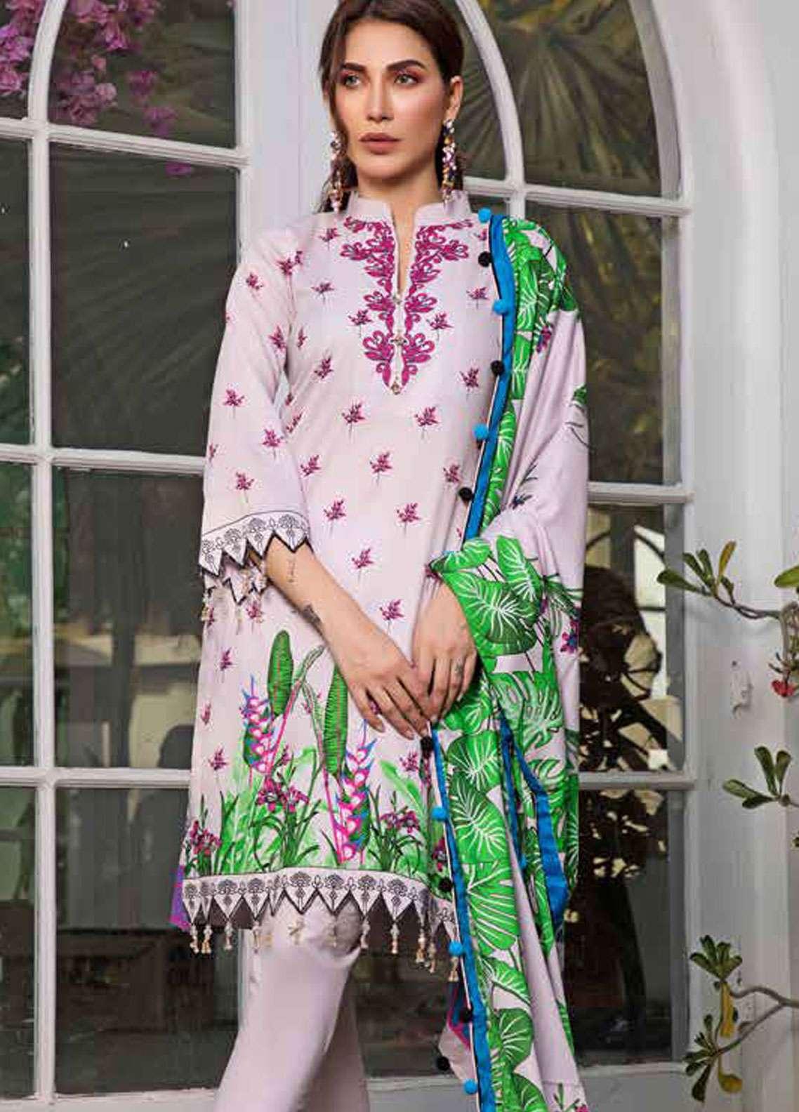 Al Zohaib Printed Lawn Unstitched 3 Piece Suit AZC19-L2 7A - Spring / Summer Collection