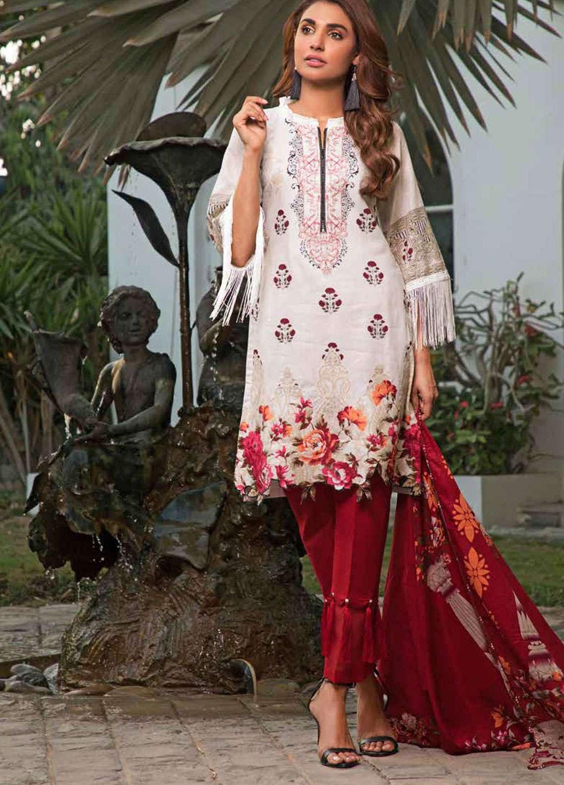Al Zohaib Printed Lawn Unstitched 3 Piece Suit AZC19-L2 9A - Spring / Summer Collection