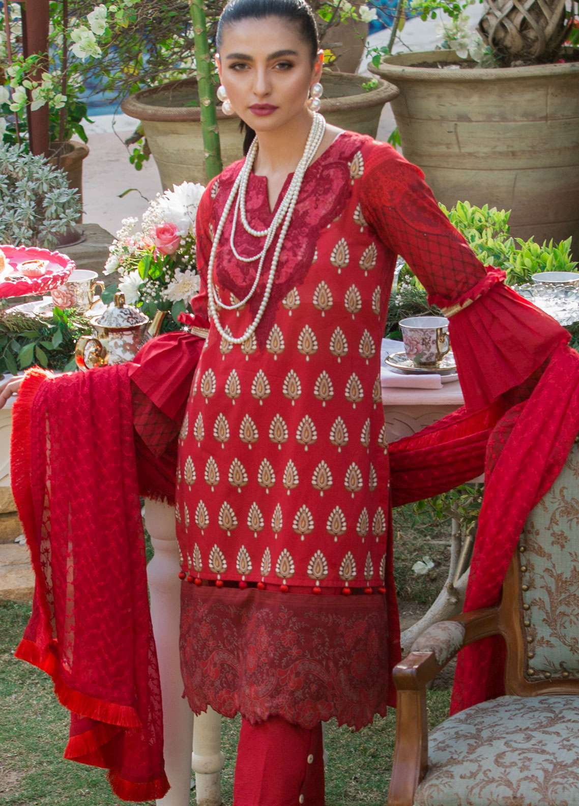 Al Zohaib Embroidered Lawn Unstitched 3 Piece Suit AZ19SA 09 - Spring / Summer Collection