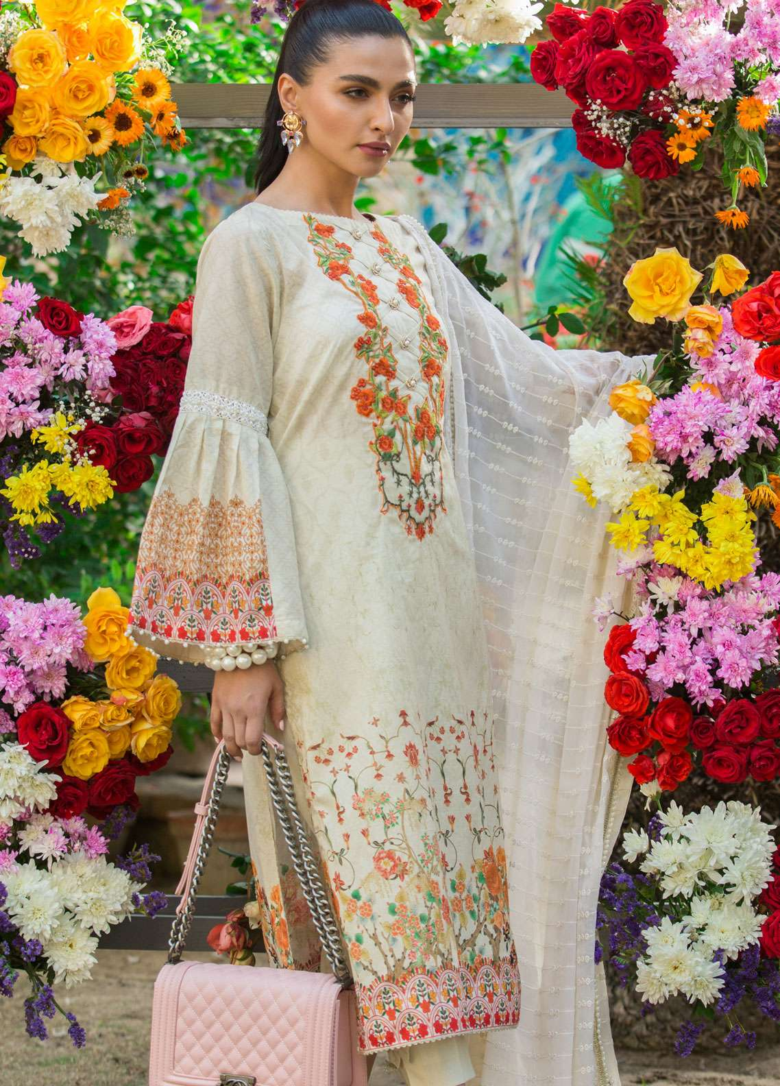 Al Zohaib Embroidered Lawn Unstitched 3 Piece Suit AZ19SA 3A - Spring / Summer Collection