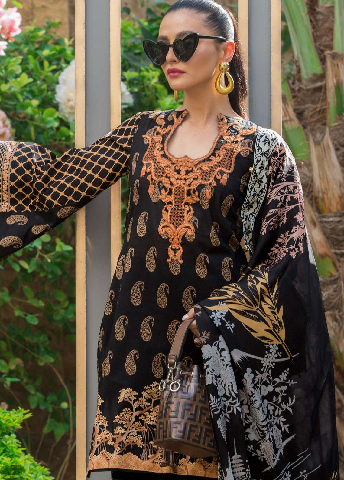 Al Zohaib Embroidered Lawn Unstitched 3 Piece Suit AZ19SA 6A - Spring / Summer Collection