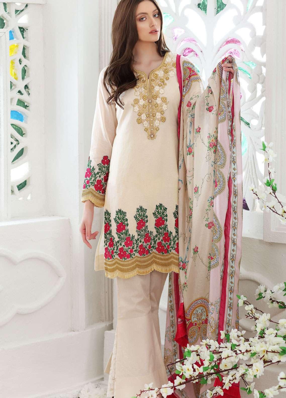 Al Zohaib Embroidered Missouri Unstitched 3 Piece Suit AZ19SA PR-07 - Spring / Summer Collection