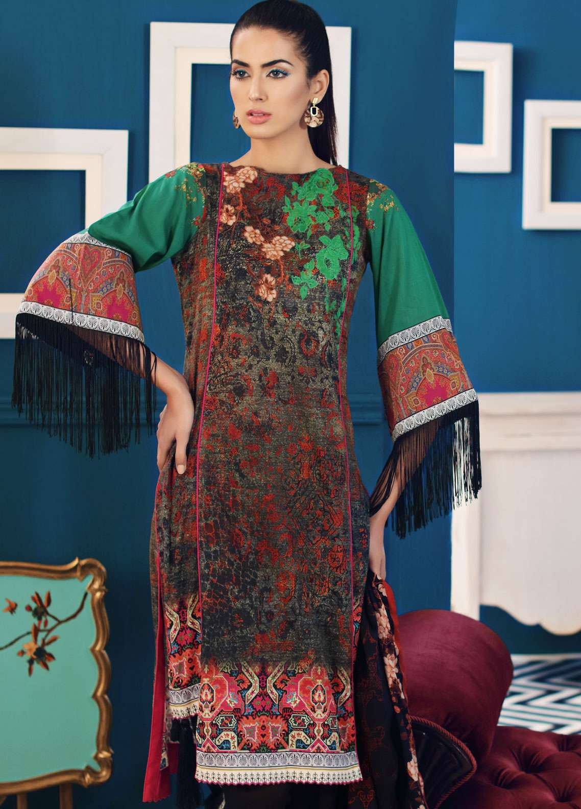 Al Zohaib Printed Lawn Unstitched 3 Piece Suit AZ19SA PS-13 - Spring / Summer Collection