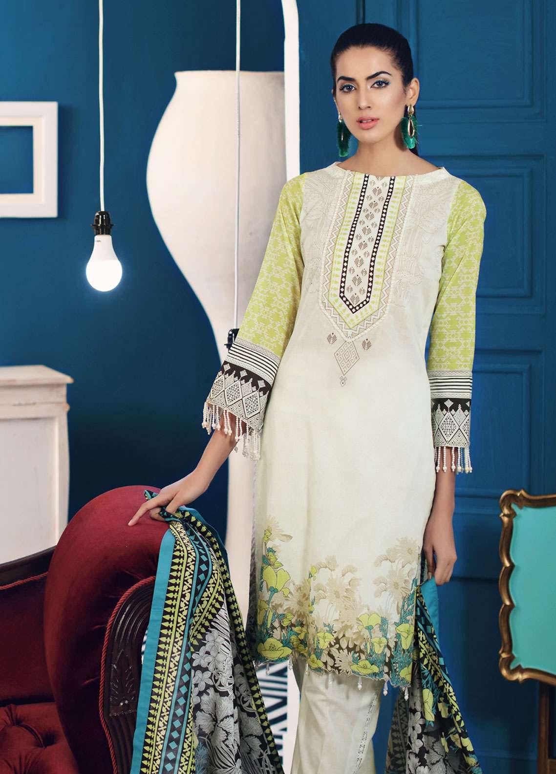Al Zohaib Printed Lawn Unstitched 3 Piece Suit AZ19SA PS-14B - Spring / Summer Collection