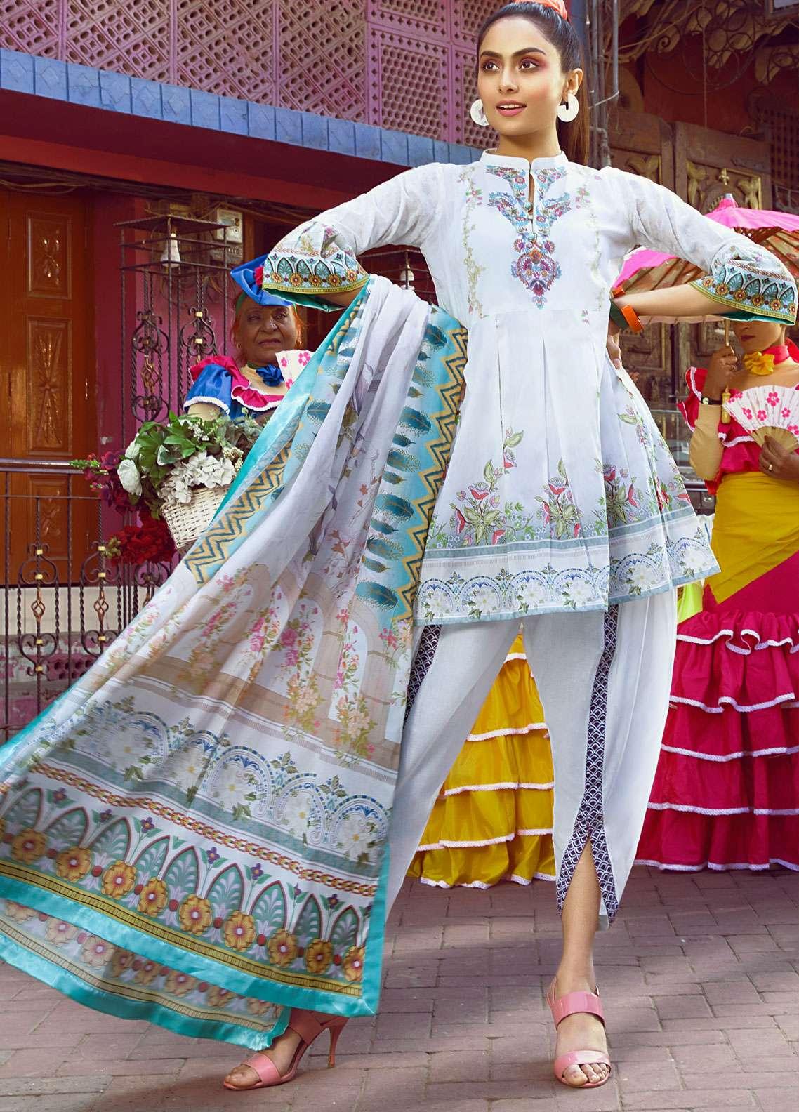 Al Zohaib Printed Lawn Unstitched 3 Piece Suit AZ19SA PS-1A - Spring / Summer Collection