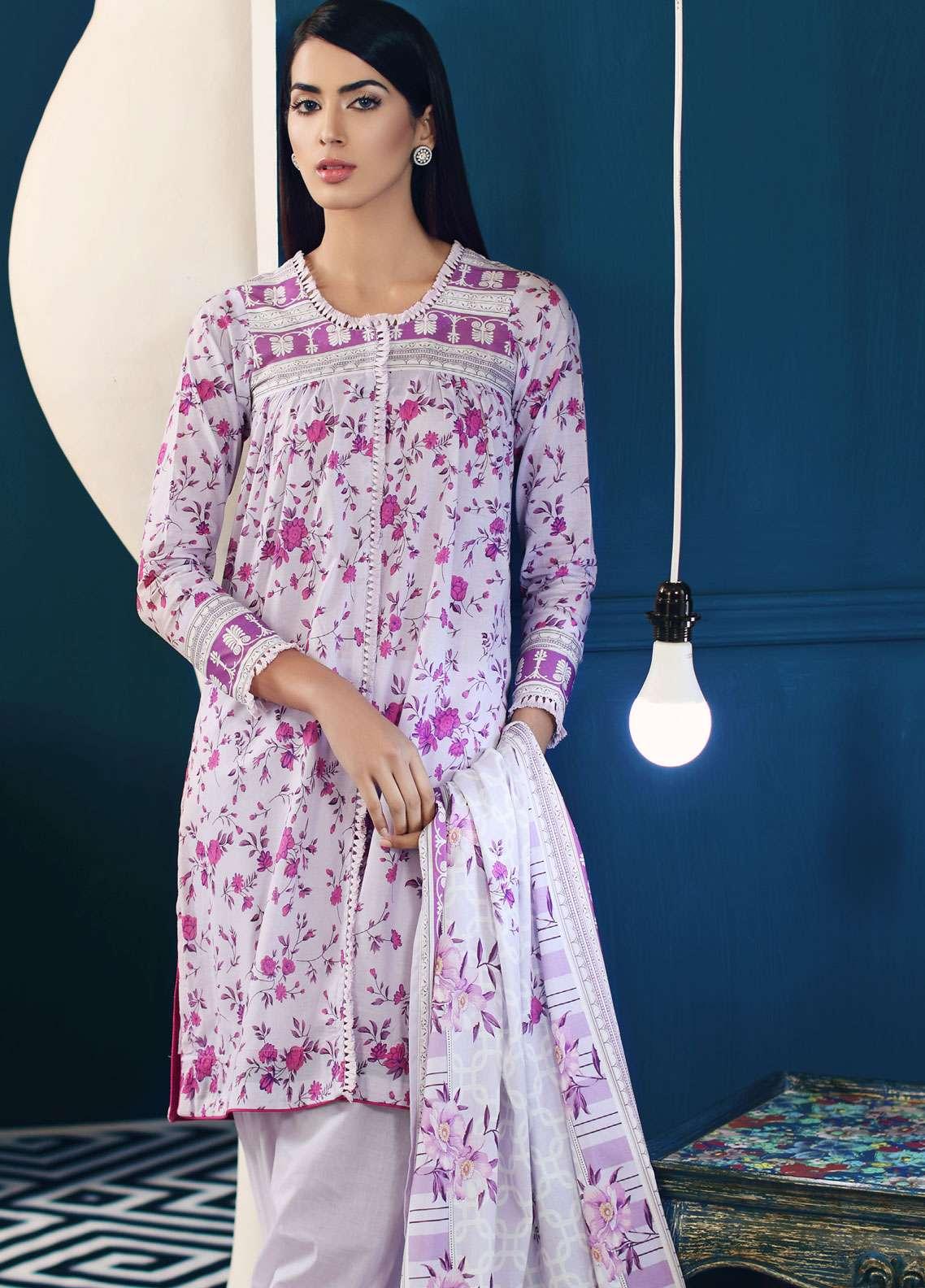 Al Zohaib Printed Lawn Unstitched 3 Piece Suit AZ19SA PS-5B - Spring / Summer Collection