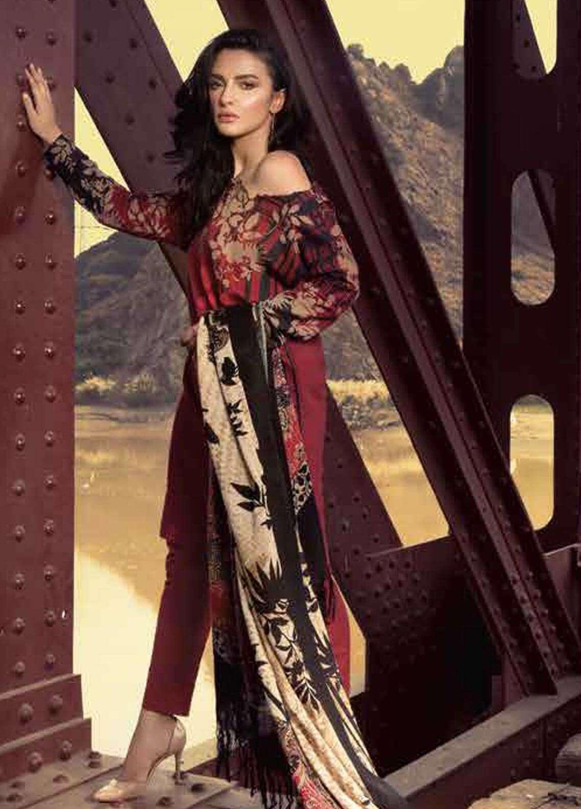fcbbd9b9e0128 Unstitched Khaddar Suits Collection 2019 - Pakistani Designer Women ...