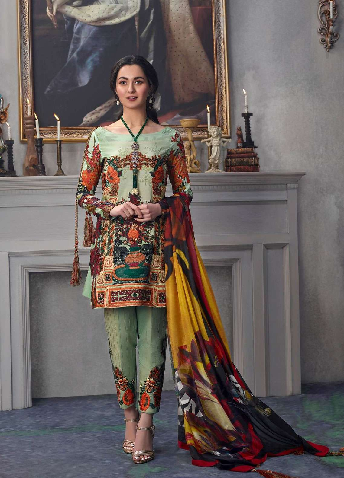 Asifa & Nabeel Embroidered Lawn Unstitched 3 Piece Suit AN19L 1Q Grace - Spring / Summer Collection