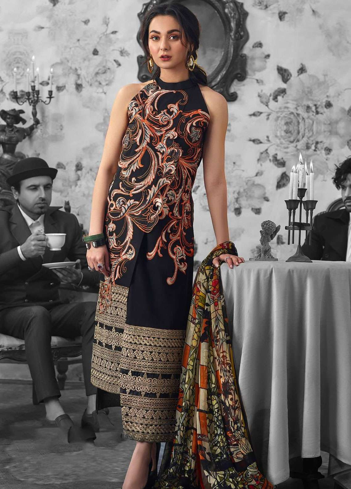 Asifa & Nabeel Embroidered Lawn Unstitched 3 Piece Suit AN19L 44C Myth - Spring / Summer Collection