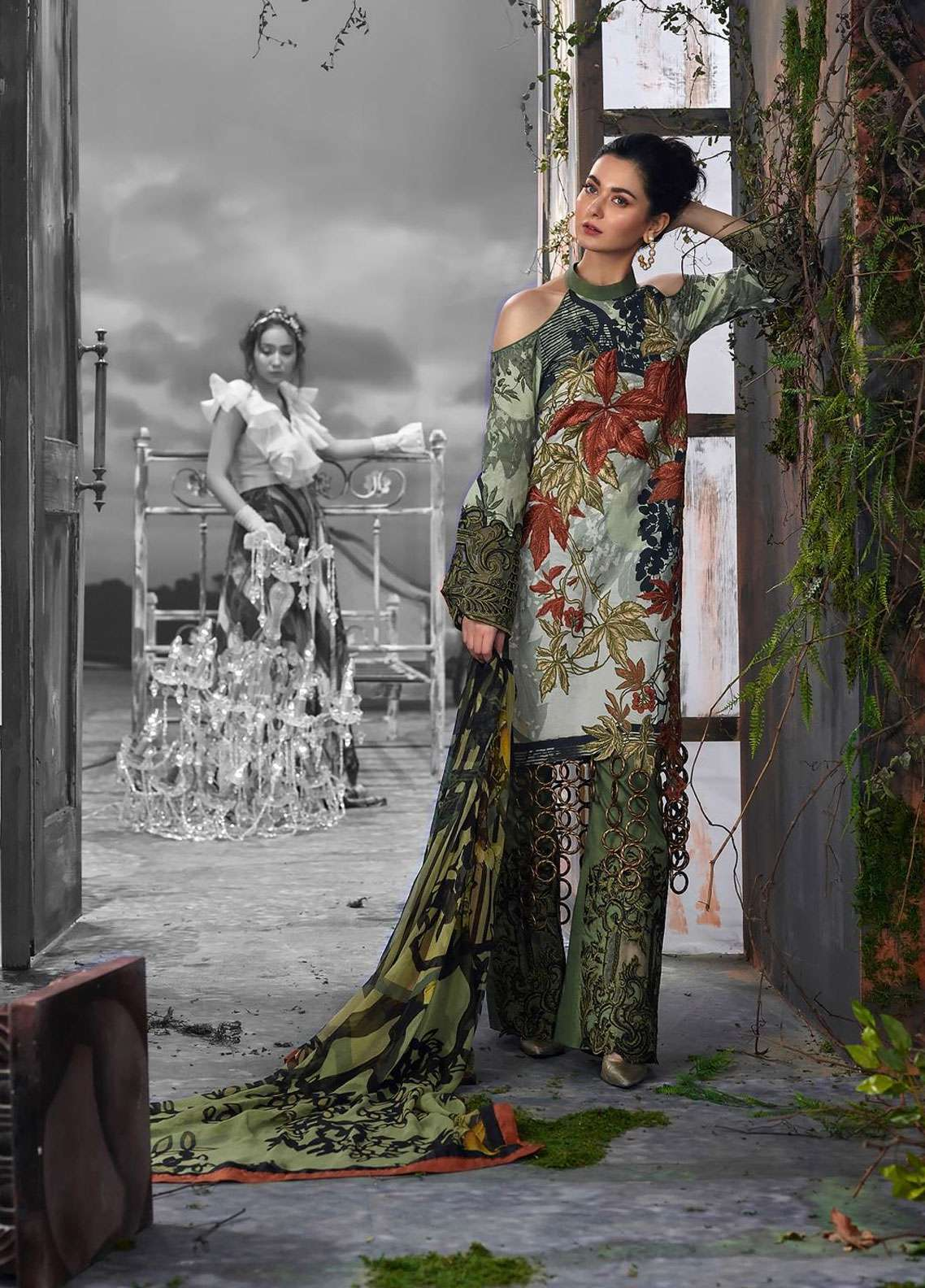 Asifa & Nabeel Embroidered Lawn Unstitched 3 Piece Suit AN19L 8B Fragility - Spring / Summer Collection
