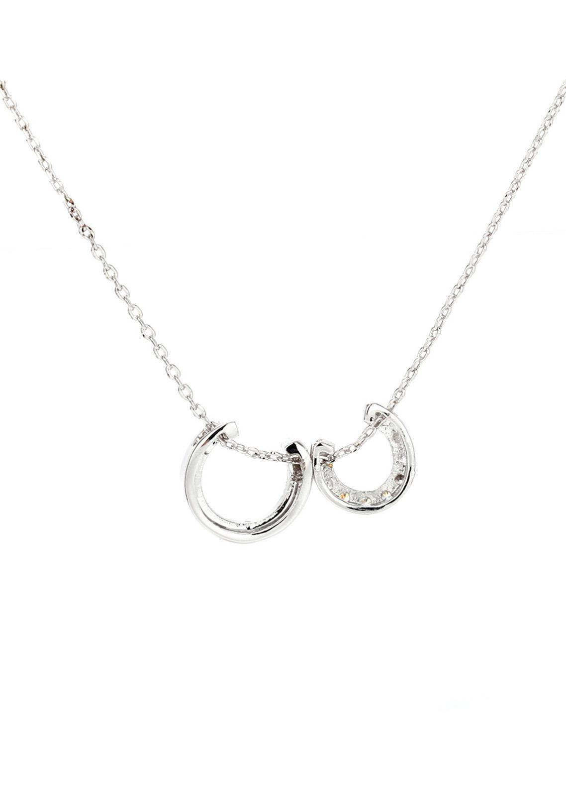 Anna Grace London by Silk Avenue Silver Plated Crystal Fashion Necklace AGN0031 - Ladies Jewellery