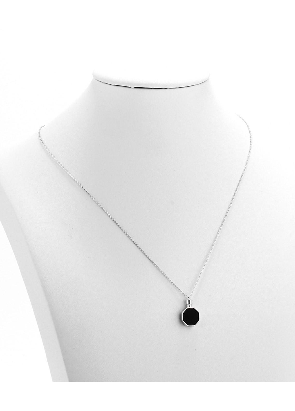 Anna Grace London by Silk Avenue Silver Plated Crystal Stone Tower Necklace AGN0052 - Ladies Jewellery