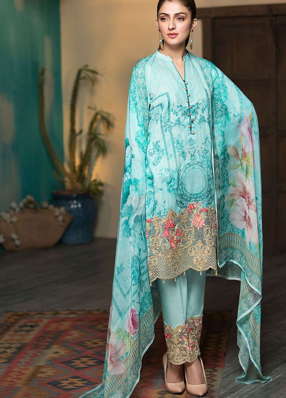 Arena by Mohagni Digital Embroidered Lawn Unstitched 3 Piece Suit AMO19L 12 - Spring / Summer Collection