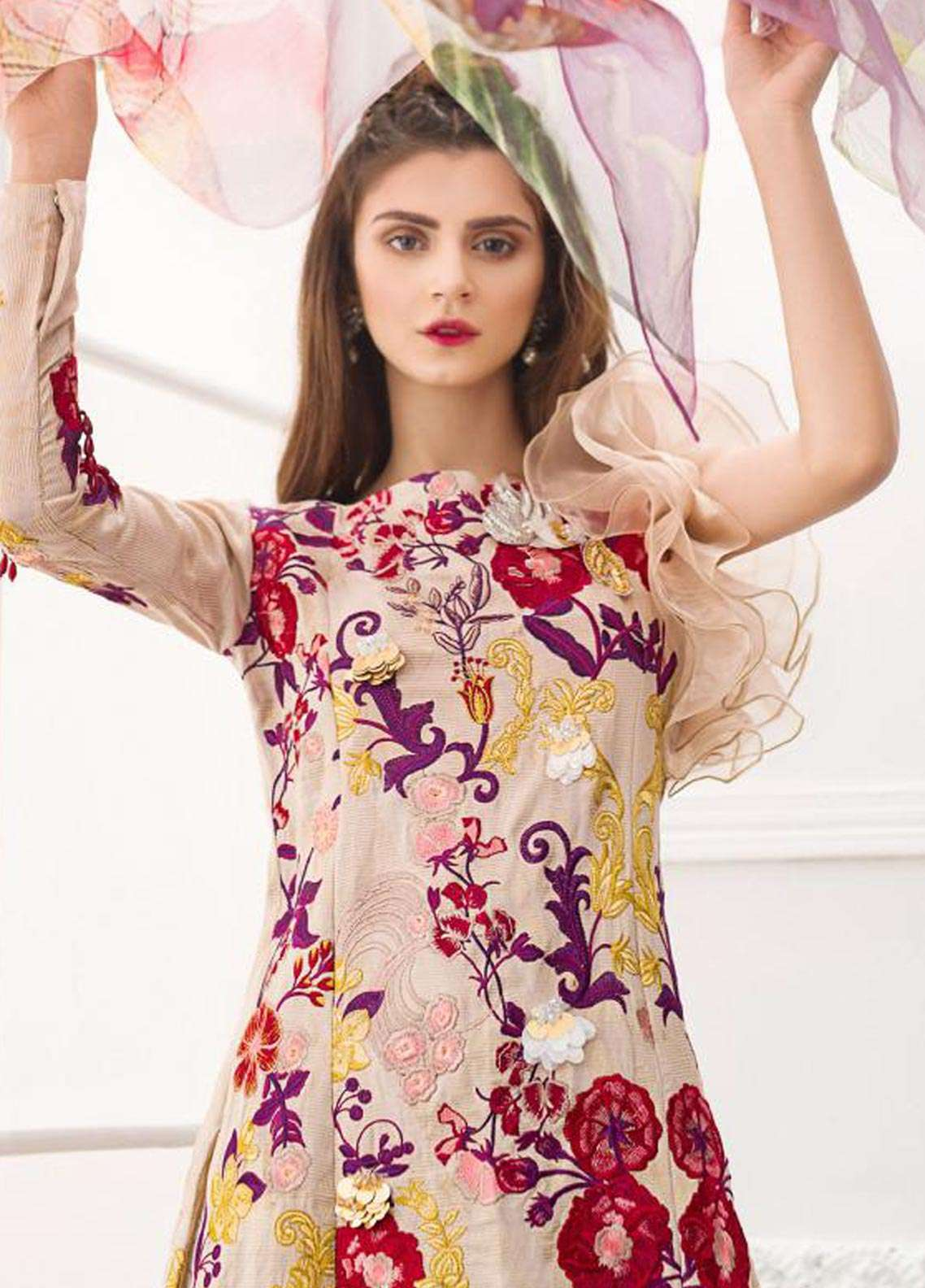 Asifa & Nabeel Embroidered Jacquard Unstitched 3 Piece Suit AN18F 09 - Festive Collection
