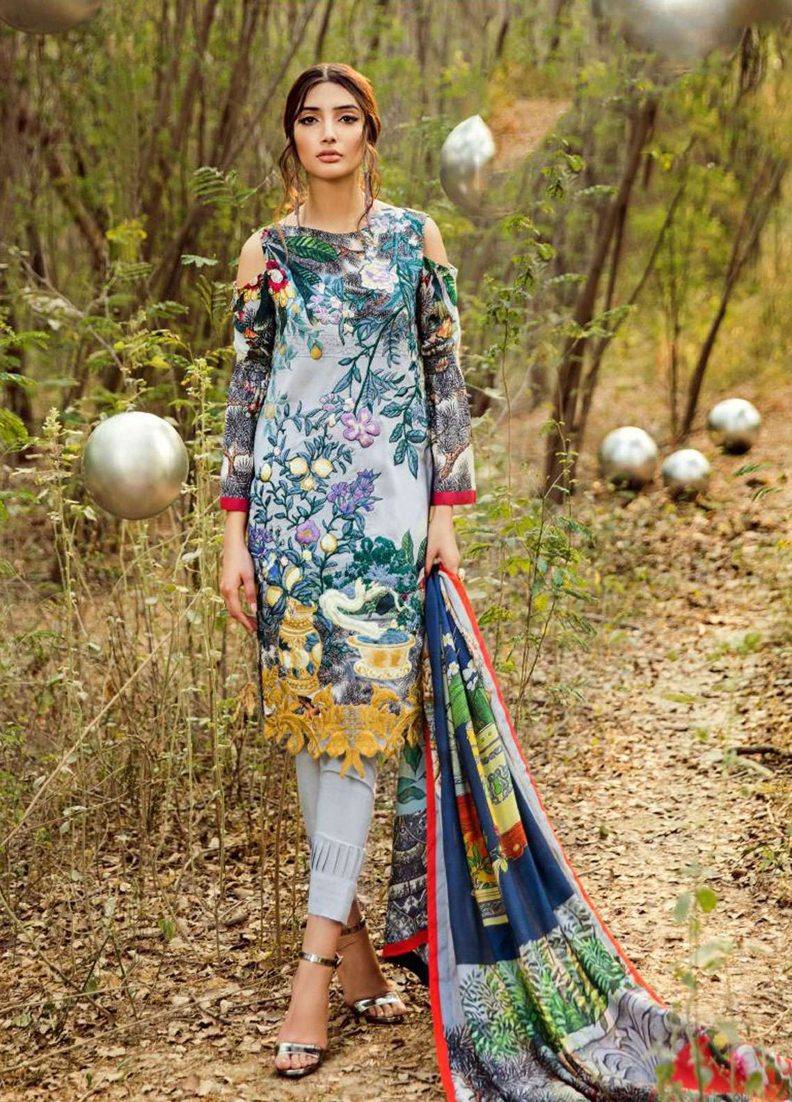 Asifa & Nabeel Embroidered Linen Unstitched 3 Piece Suit AN18W 7G Blue Days - Winter Collection