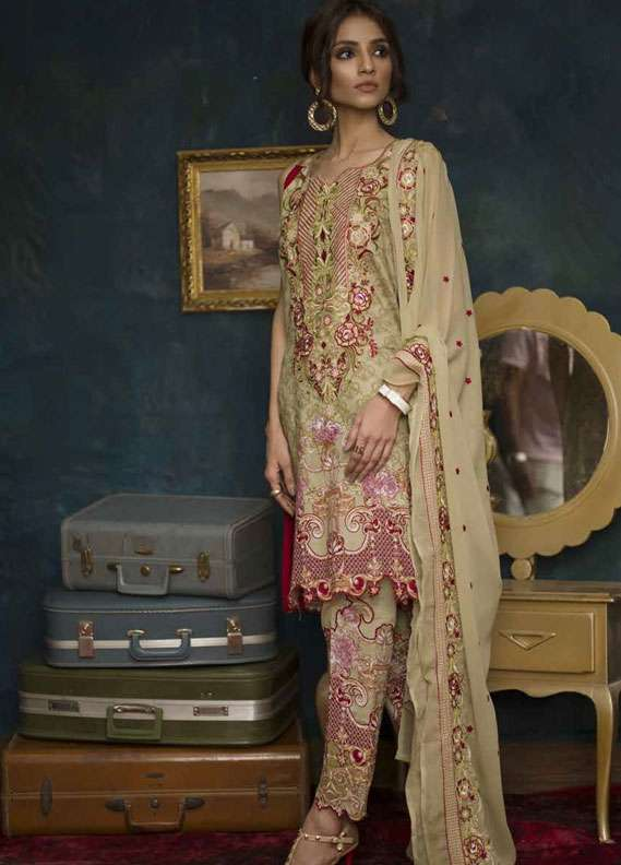 Ayesha Chottani Embroidered Lawn Unstitched 3 Piece Suit AYC18L ST-10A - Spring / Summer Collection