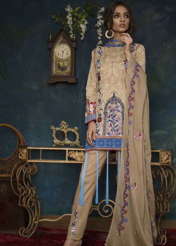 Ayesha Chottani Embroidered Lawn Unstitched 3 Piece Suit AYC18L ST-7A - Spring / Summer Collection