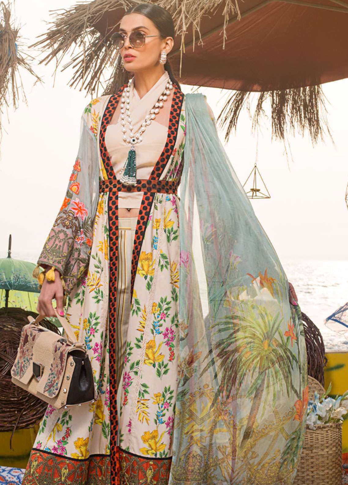 Ayesha Ibrahim by ZS Embroidered Lawn Unstitched 3 Piece Suit AI19L 02 ORCHID - Spring / Summer Collection