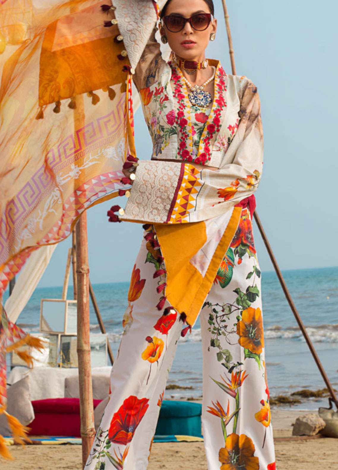 Ayesha Ibrahim by ZS Embroidered Lawn Unstitched 3 Piece Suit AI19L 03 BLOSSOM - Spring / Summer Collection