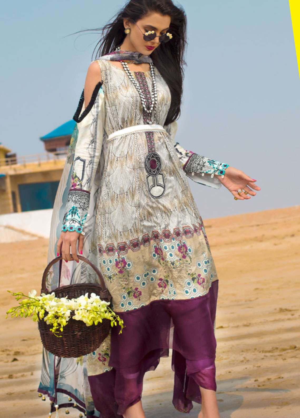 Ayesha Ibrahim by ZS Embroidered Lawn Unstitched 3 Piece Suit AI19L 07 CREPE - Spring / Summer Collection