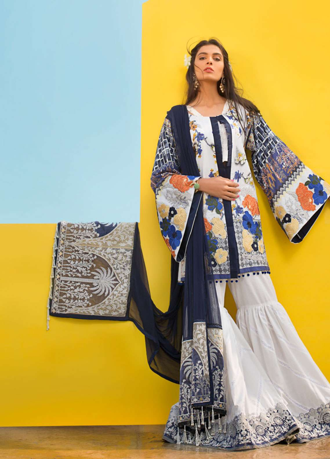 Ayesha Ibrahim by ZS Embroidered Lawn Unstitched 3 Piece Suit AI19L 11 ASTER - Spring / Summer Collection