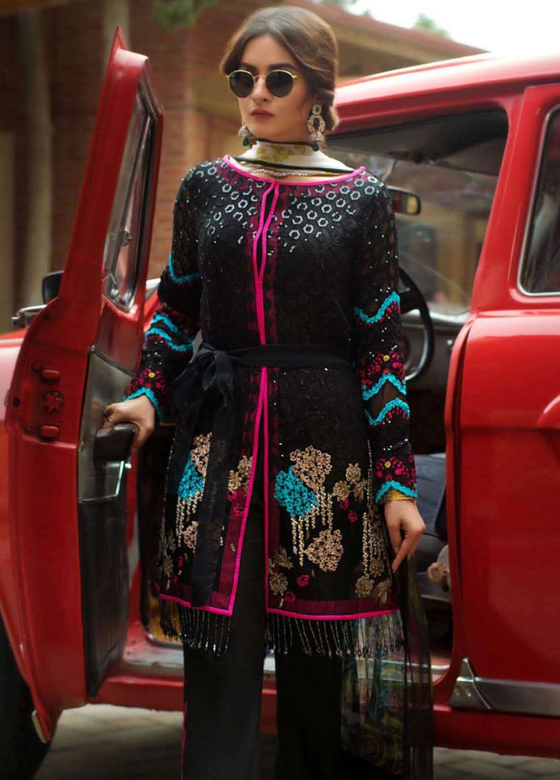 Ayesha Ibrahim by ZS Embroidered Chiffon Unstitched 3 Piece Suit AYI18C Cemal - Luxury Collection
