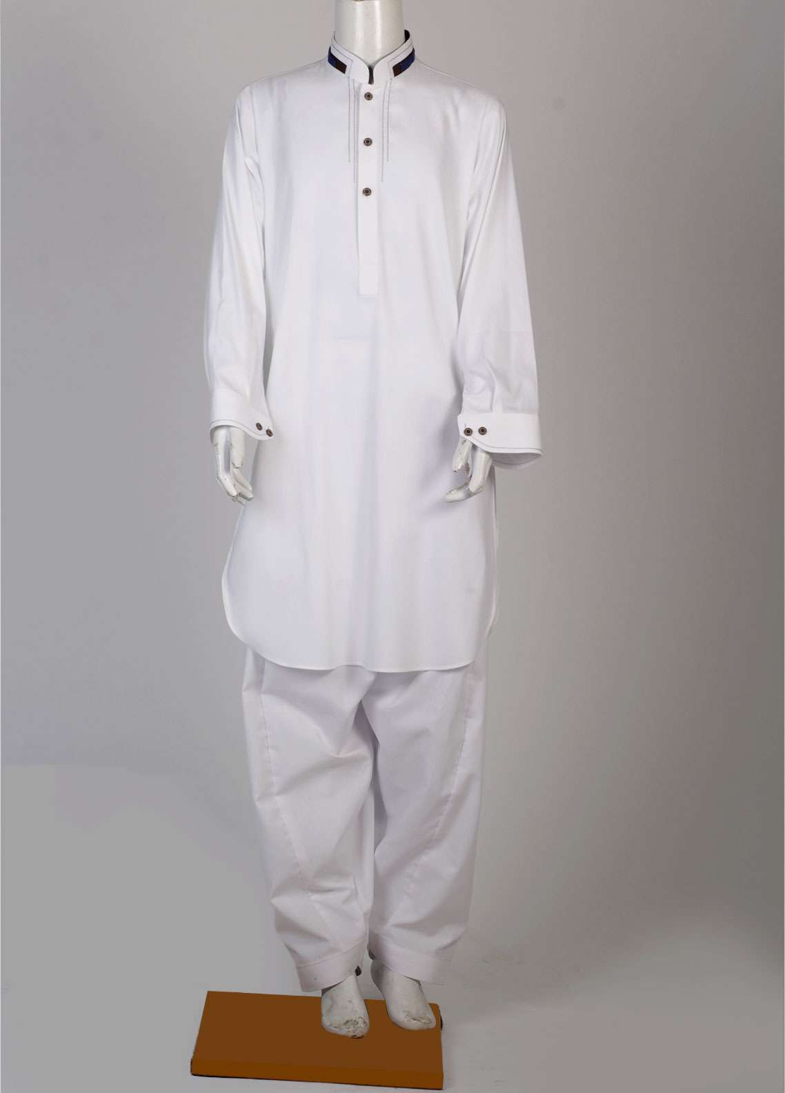 Aizaz Zafar Cotton Fancy Suits for Boys - White AZ18B 014