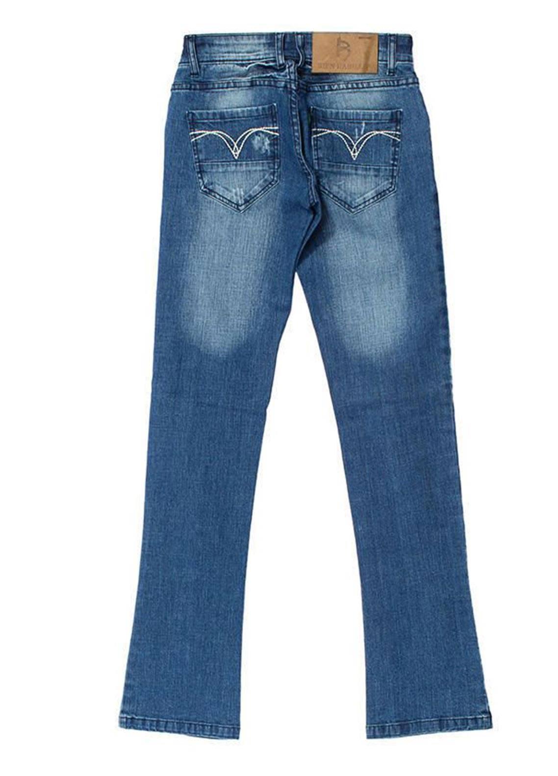 Bien Habille Jeans Casual Fit Blue Damage
