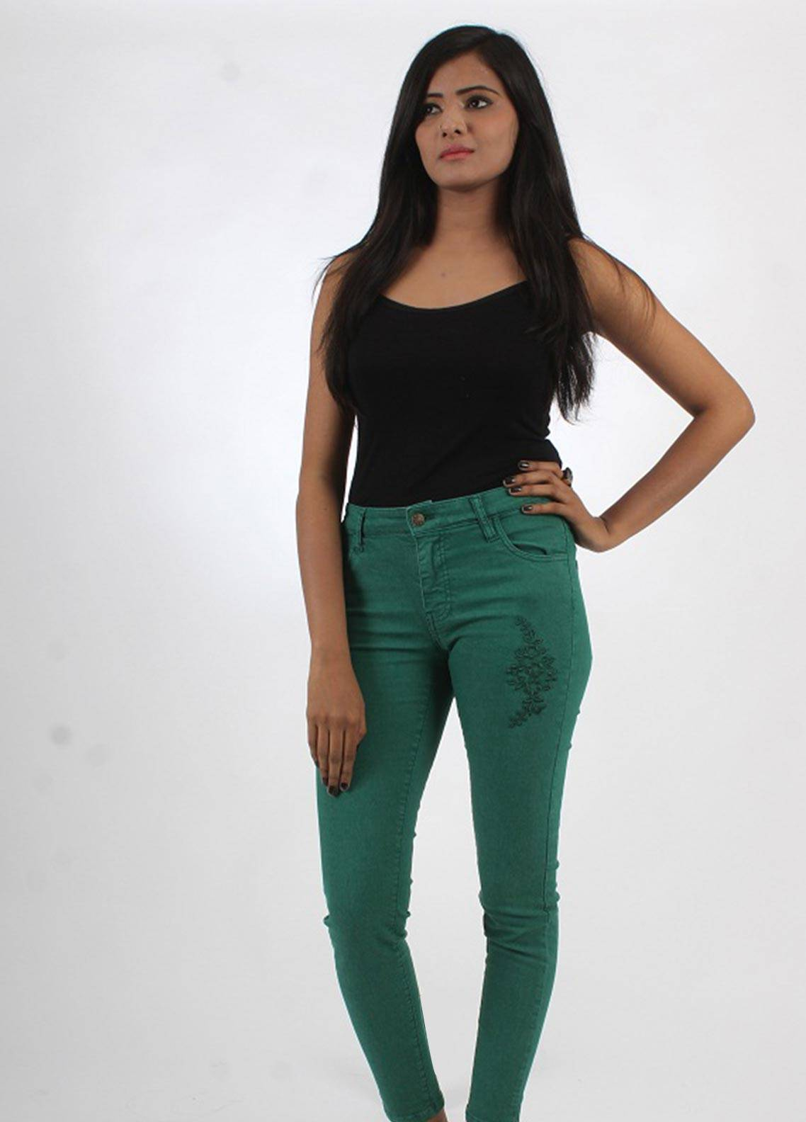 Bien Habille Jeans Skinny Fit Green