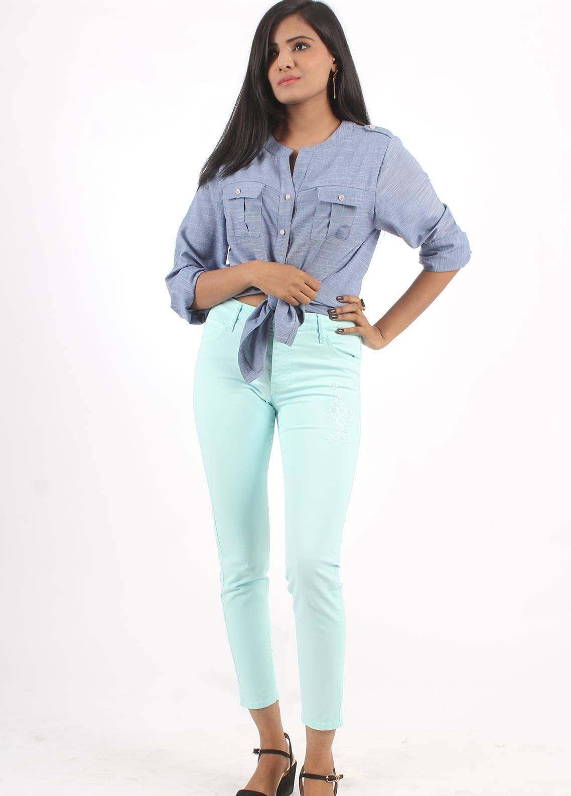 Bien Habille Jeans Skinny Fit Pastel Blue
