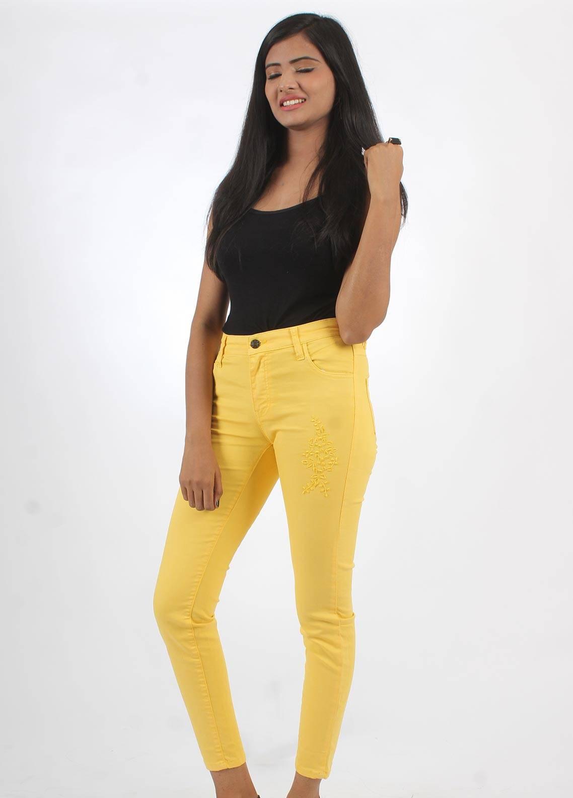 Bien Habille Jeans Skinny Fit Yellow