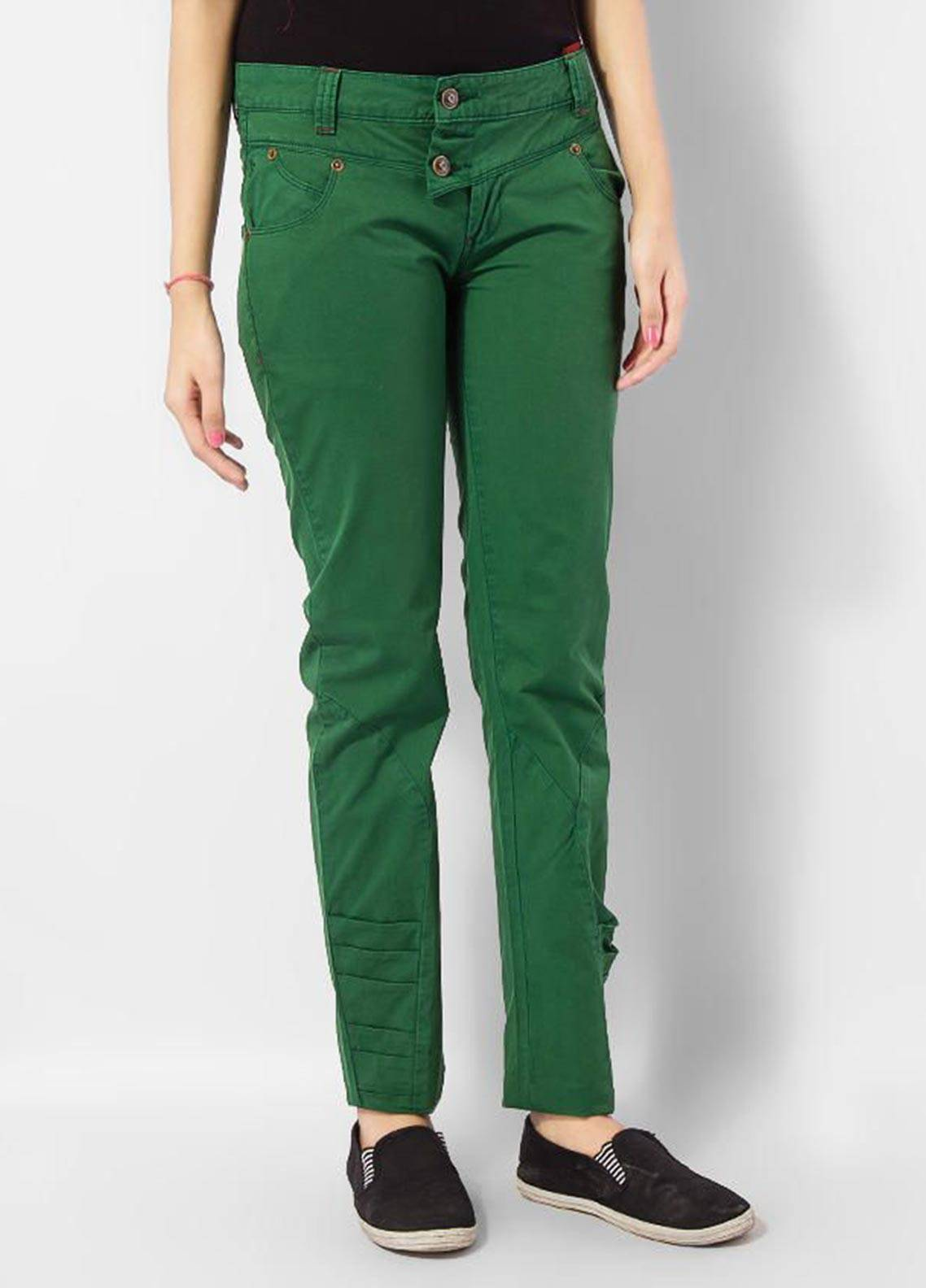 Bien Habille Trouser Modern Fit Green