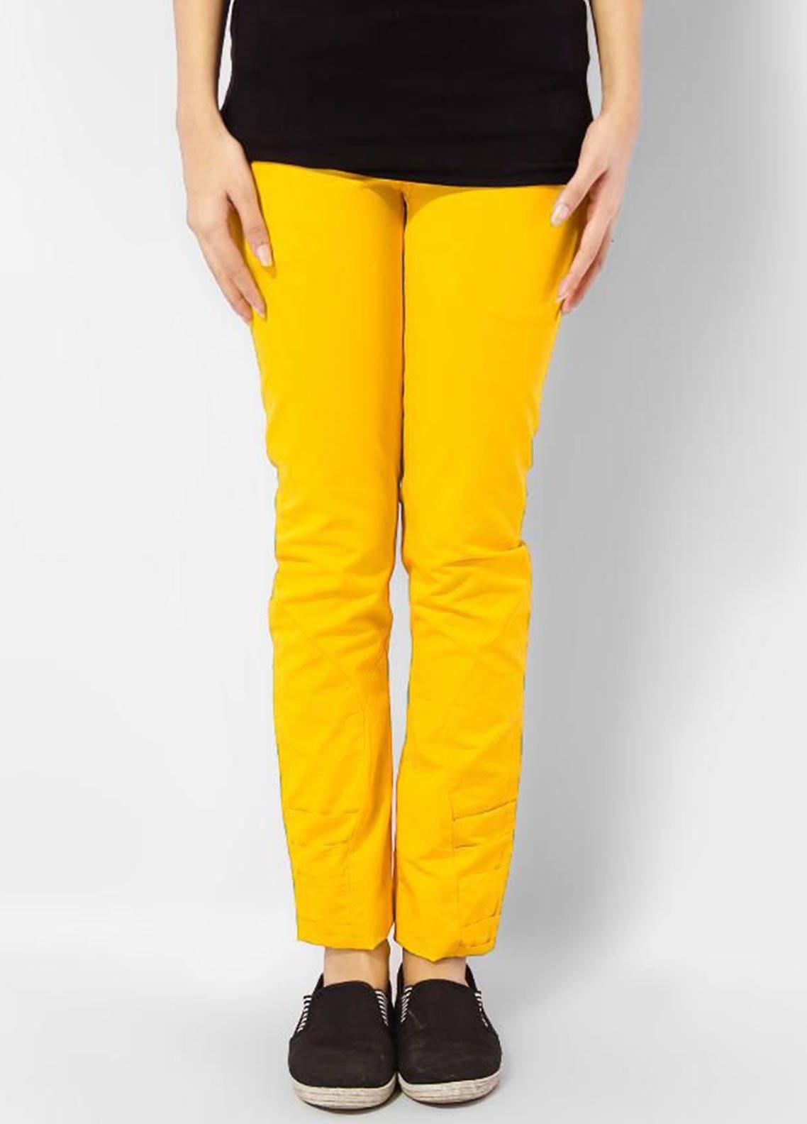 Bien Habille Trouser Modern Fit Yellow