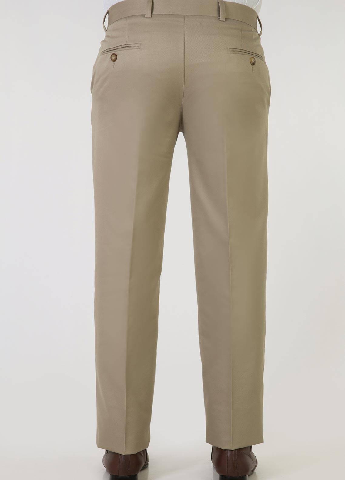 Bien Habille Cotton No-Iron Trouser for Men -  Comfort Fit American Khaki