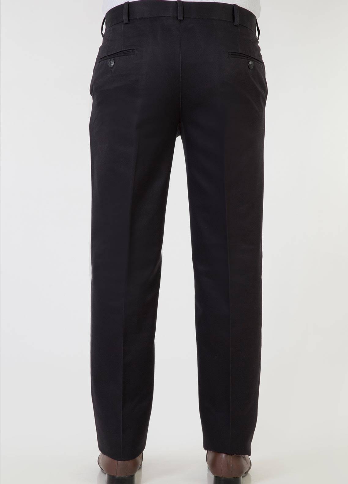 Bien Habille Cotton No-Iron Men Trouser -  Comfort Fit Black