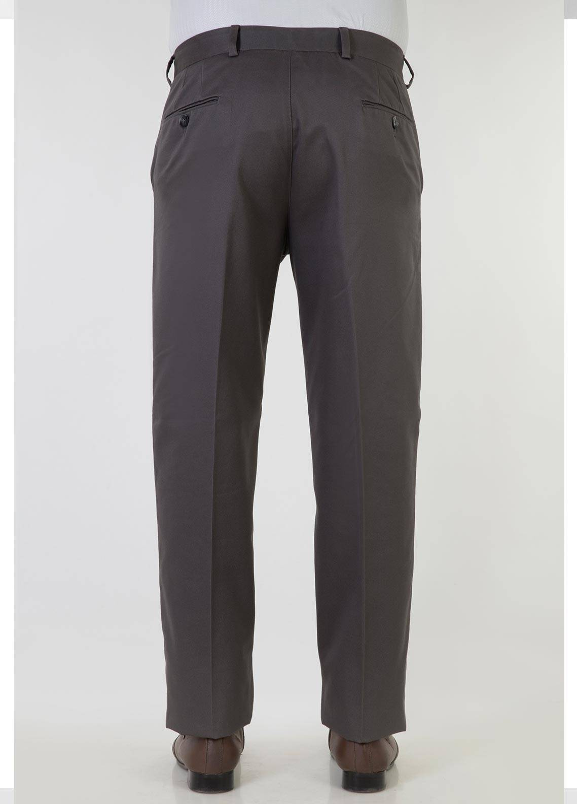 Bien Habille Cotton No-Iron Trouser for Men -  Comfort Fit Classic Grey