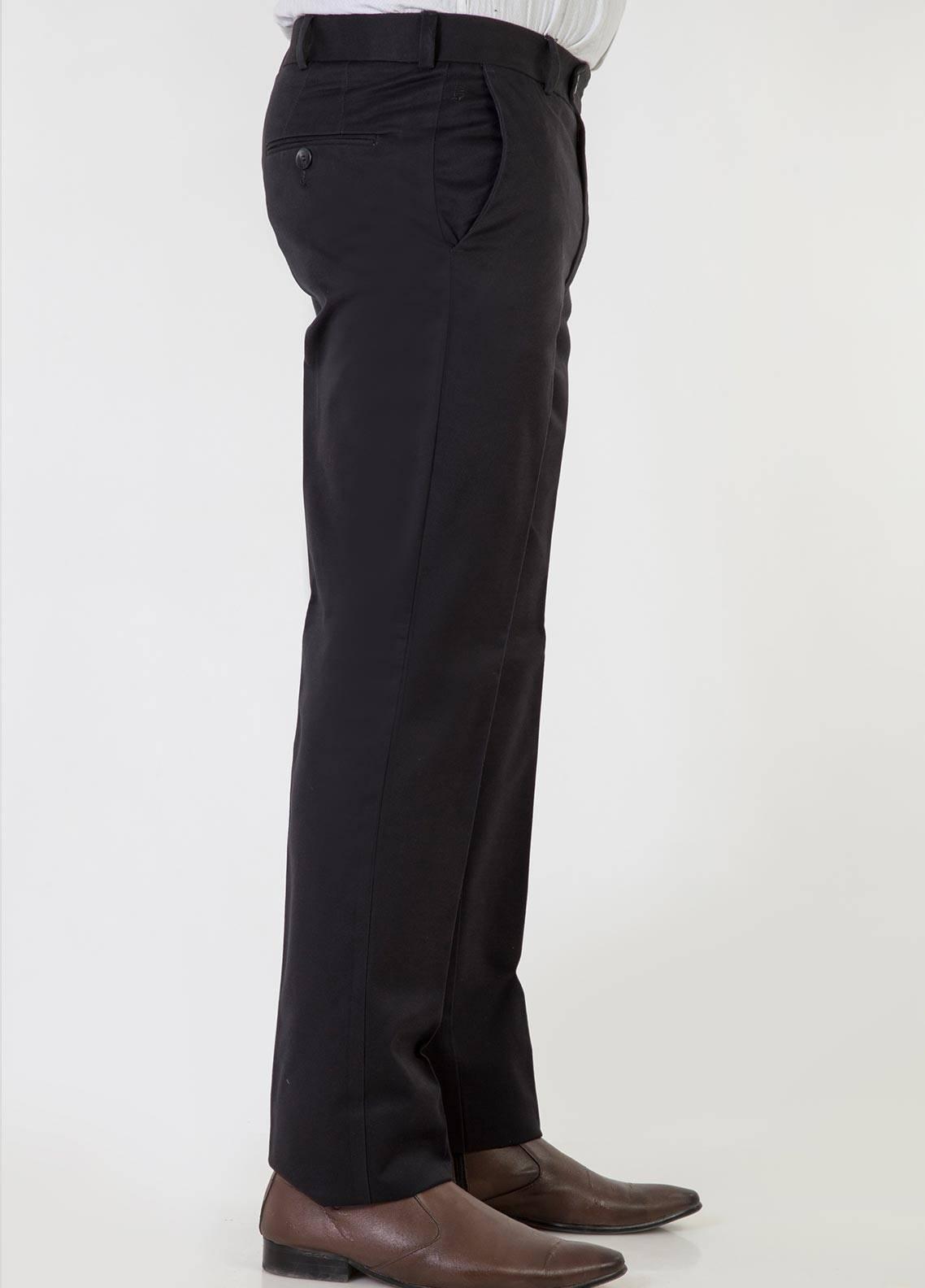 Bien Habille Cotton No-Iron Trouser for Men -  Smart Fit Black