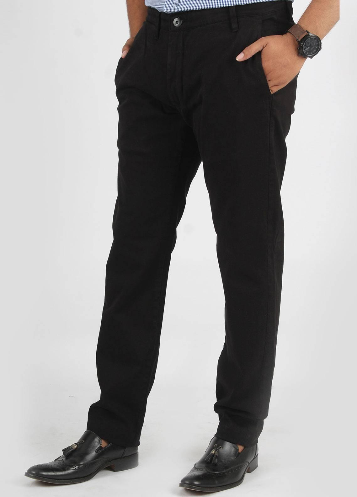 Bien Habille Cotton No-Iron Trouser for Men -  Smart Fit Blue Night