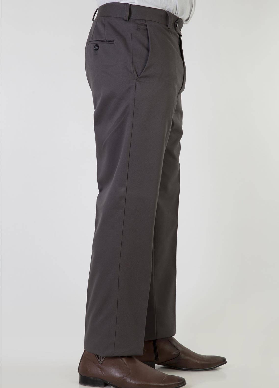 Bien Habille Cotton No-Iron Men Trouser -  Smart Fit Classic Grey